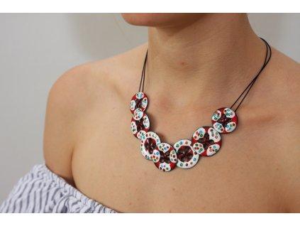 269 button necklace