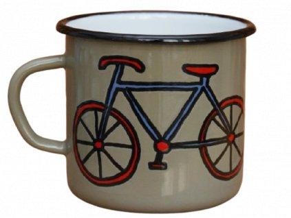 2729 enamel mug grey motive bikes