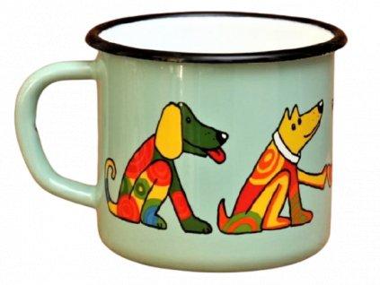 2849 turqoise mug with a dog