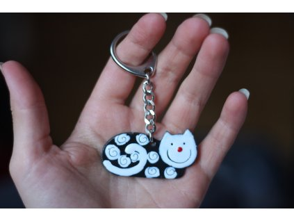 287 keychain cat