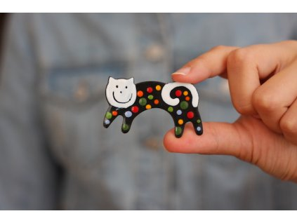 293 brooch cat