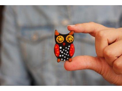338 brooch owl