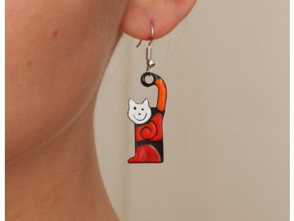 527 cat earrings