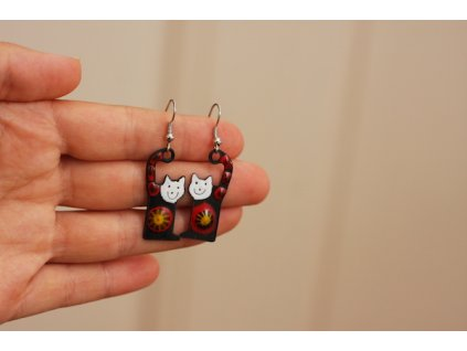 530 cat earrings