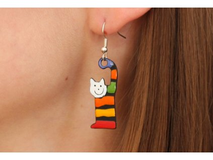 542 cat earrings