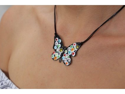 653 butterfly necklace
