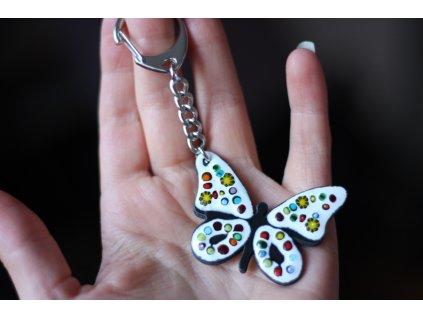 686 keychain butterfly