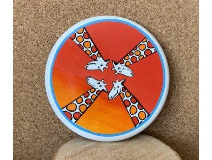 Obrázek - žirafa / Enamel sign - giraffe