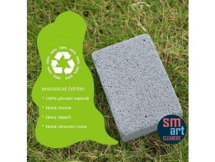 přírodní kamenná pěna pro čištění grilů