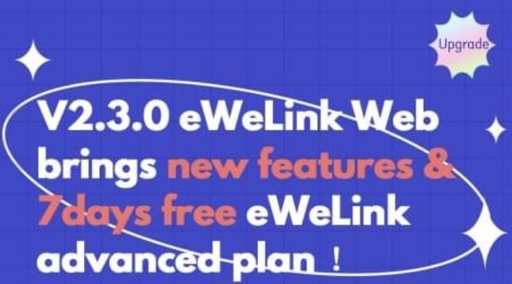 eWeLink web na 7 dní zdarma.