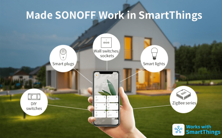Zařízení pod eWeLink můžete ovládat přes SmartThings.