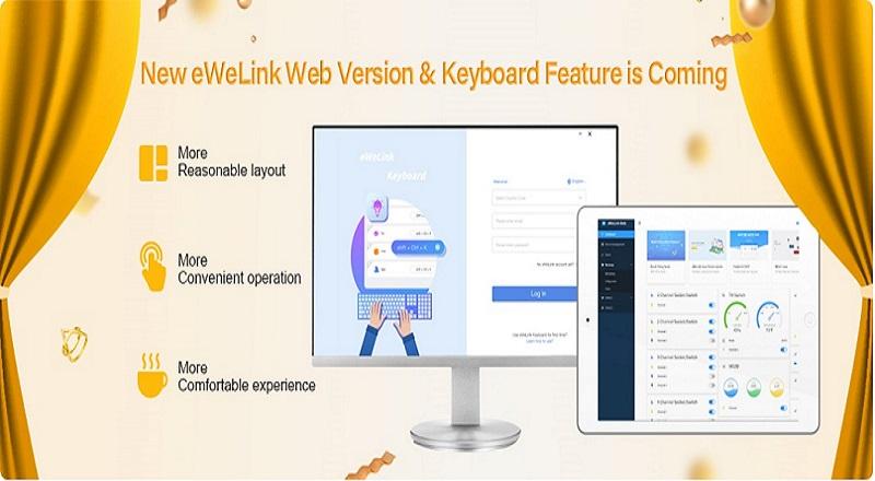 Nové webové rozhraní pro eWeLink.
