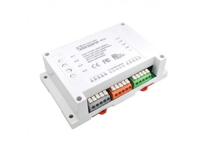 Sonoff 4CH R2  chytrý wifi spínač ovládaný aplikací pro 4 zařízení