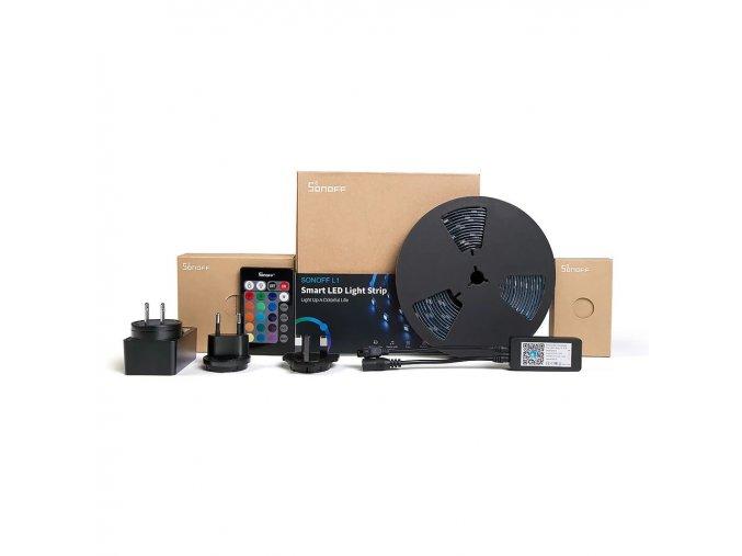 Sonoff L1 barevný led pásek  dálkovým ovladačem a mobilní aplikací ovládaný LED pásek