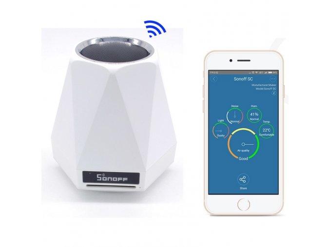 Sonoff SC  wifi čidlo vlhkosti, teploty, osvětlení, hluku