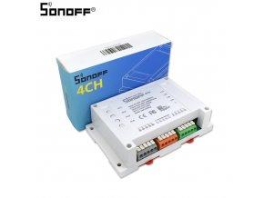 Sonoff 4CH  chytrý wifi spínač ovládaný aplikací pro 4 zařízení