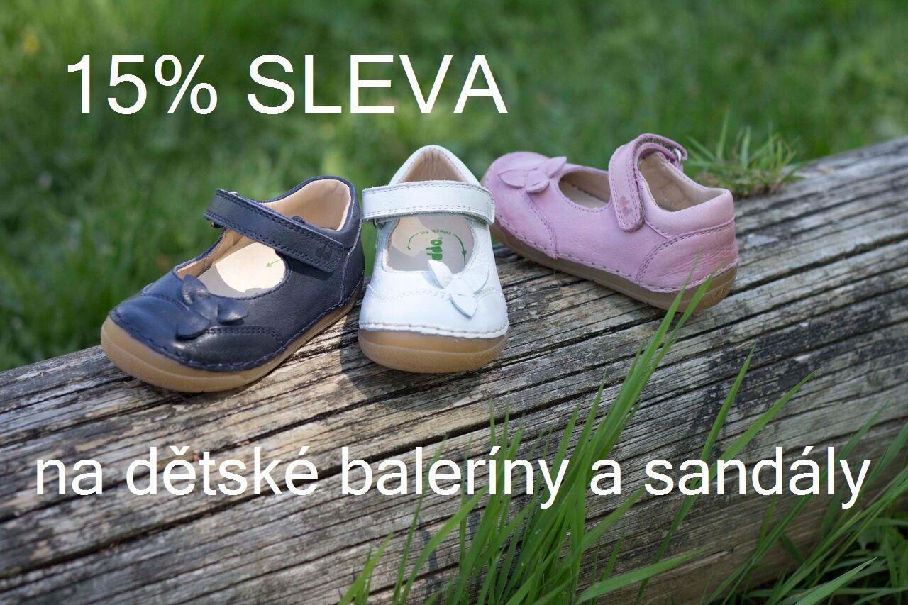 ASleva na dětské baleríny a sandály