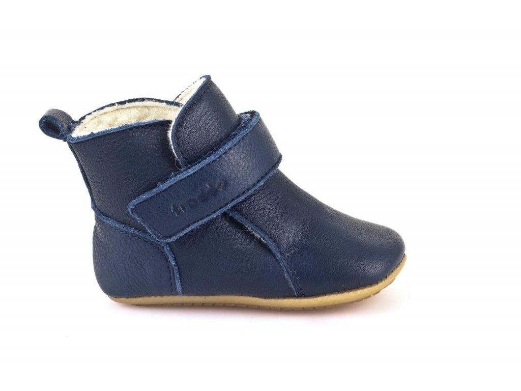 Froddo Prewalkers zimní s kožešinou tmavě modré - Smart Barefoot cd8dd2b390
