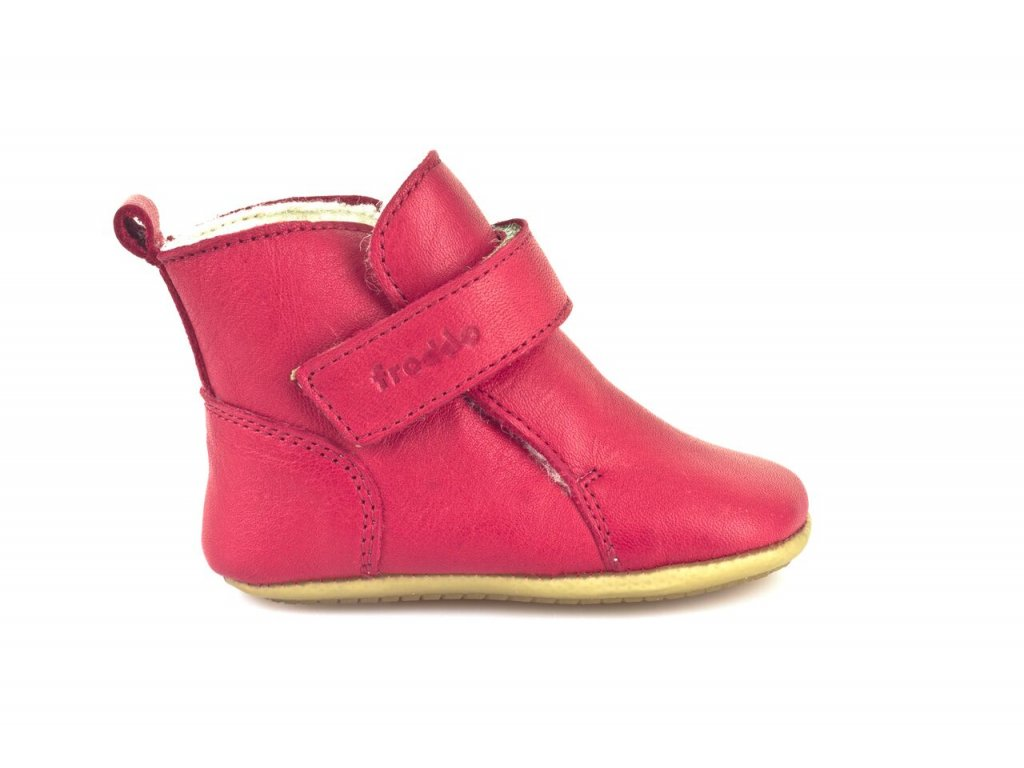 Froddo Prewalkers zimní s kožešinou červené - Smart Barefoot 3b0a89adf9