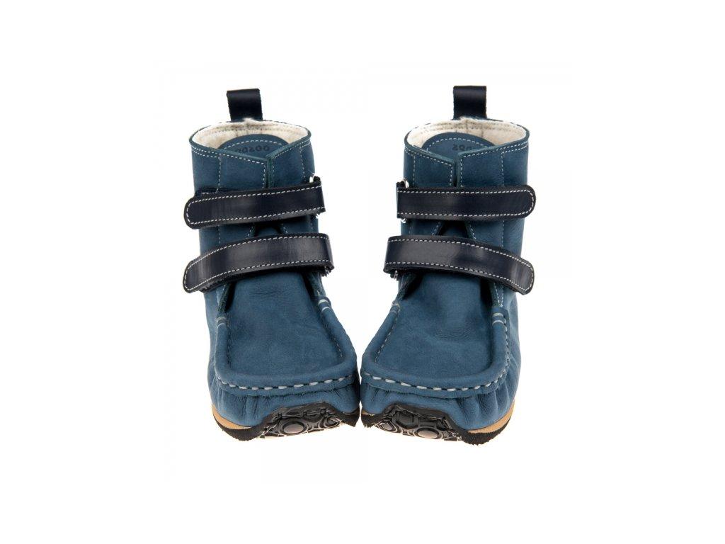 e69c988ed7 Zeazoo Yeti Wool modré s tmavomodrými pásky - Smart Barefoot
