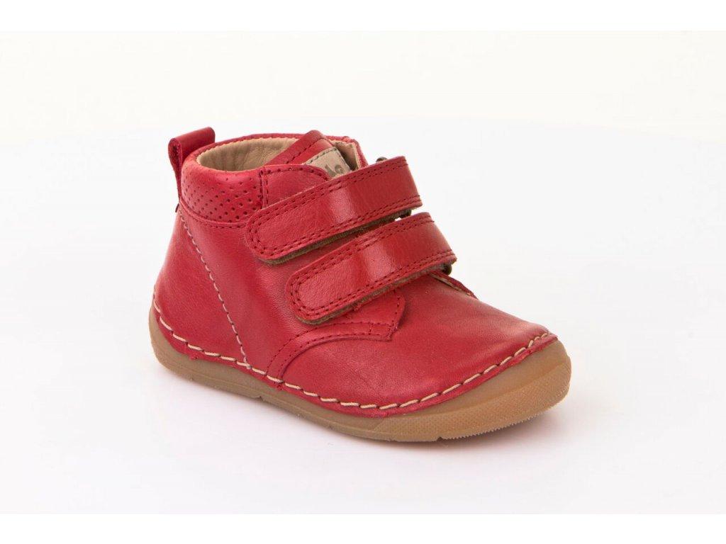 7e7b1b5240e Froddo kotníčkové suchý zip červené - Smart Barefoot