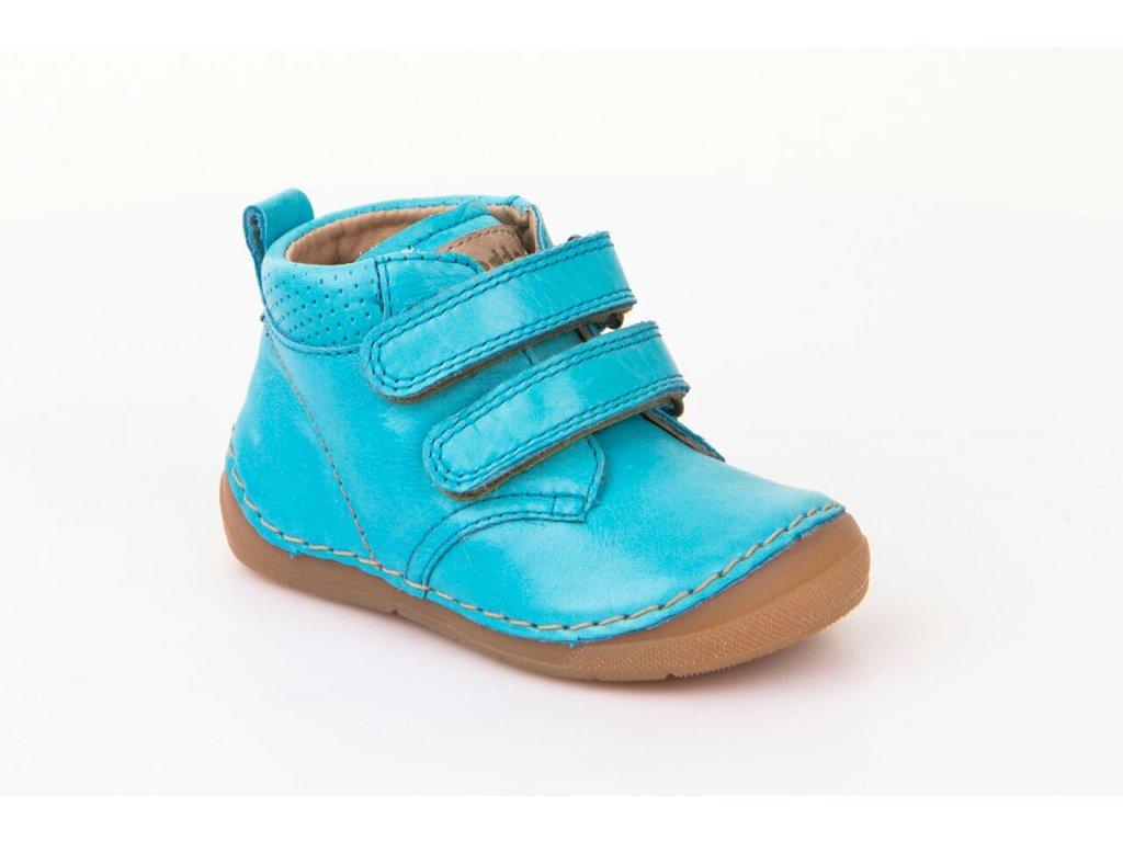 b5787190cfd Froddo kotníčkové suchý zip tyrkysové - Smart Barefoot