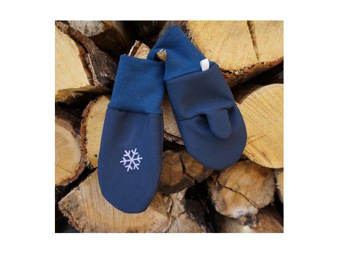 rukavice softshell modre