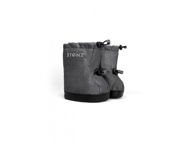 stonz toddler booties heather grey