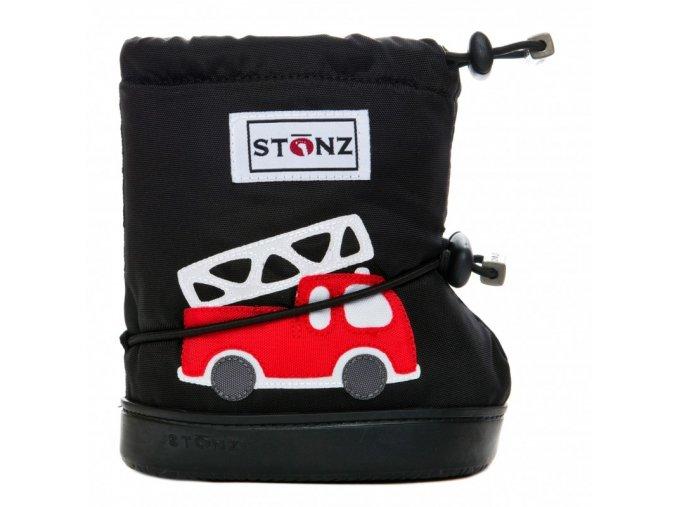 stonz booties toddler fire truck black