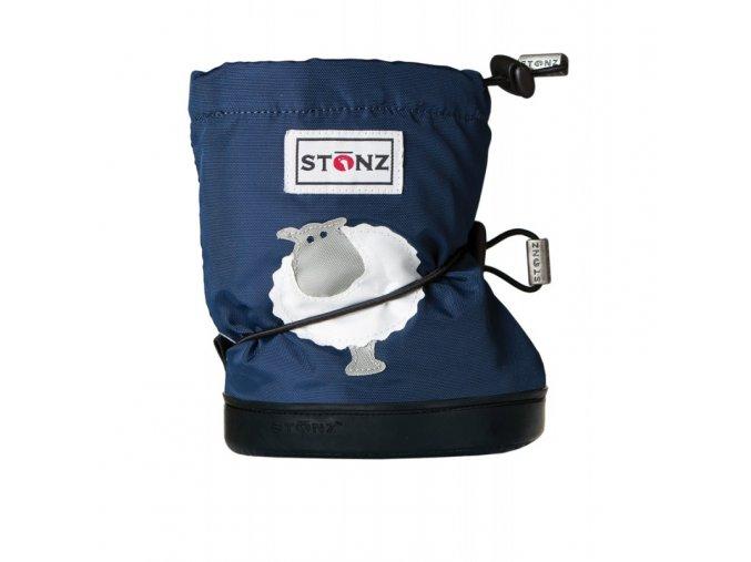 stonz booties toddler sheep navy blue