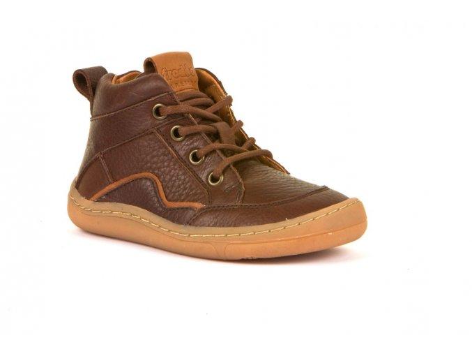 froddo barefoot kotnickove tkanicky brown