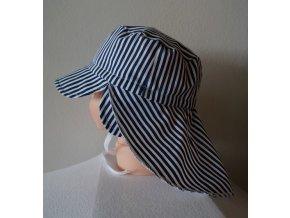 Plátěná kšiltovka s plachtou a ušima