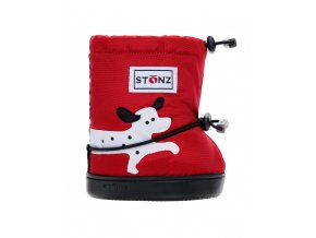 booties plus dalmatian red