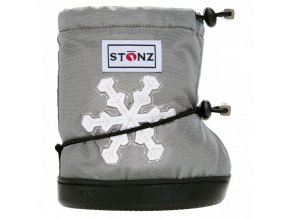 stonz booties toddler snowflake silver