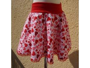 sukne cervena srdicka