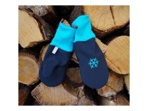 rukavice softshell modra tyrkys