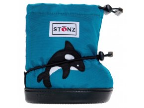 stonz booties toddler orca teal