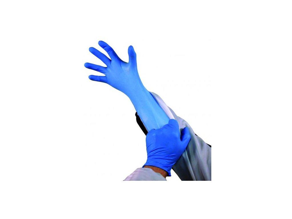 Finixa nitrilové jednorázové rukavice modré 100ks