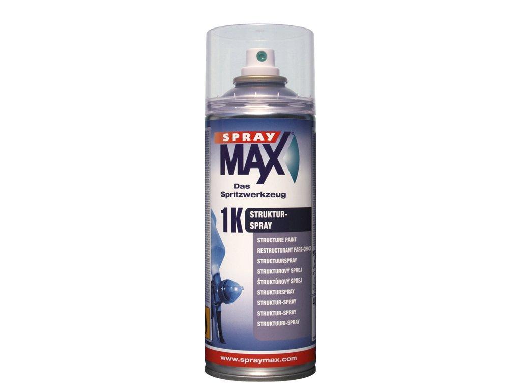 SprayMax 1K strukturovaný lak černý jemný 400 ml
