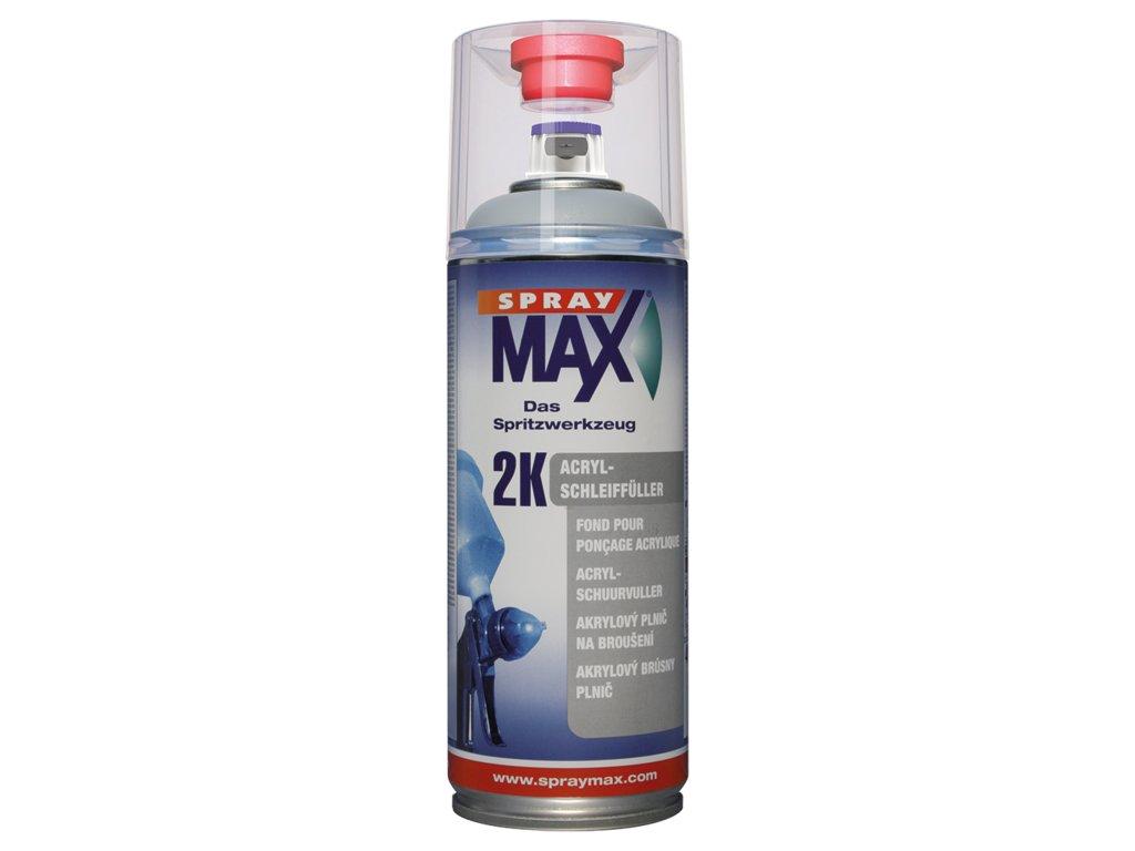 SprayMax 2K akryl plnič středně šedý 400 ml
