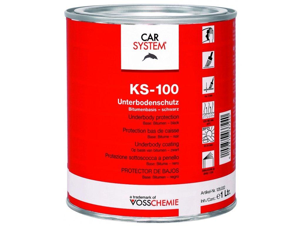 CarSystem KS-100 Ochrana podvozku - natírací bitumen 1 L