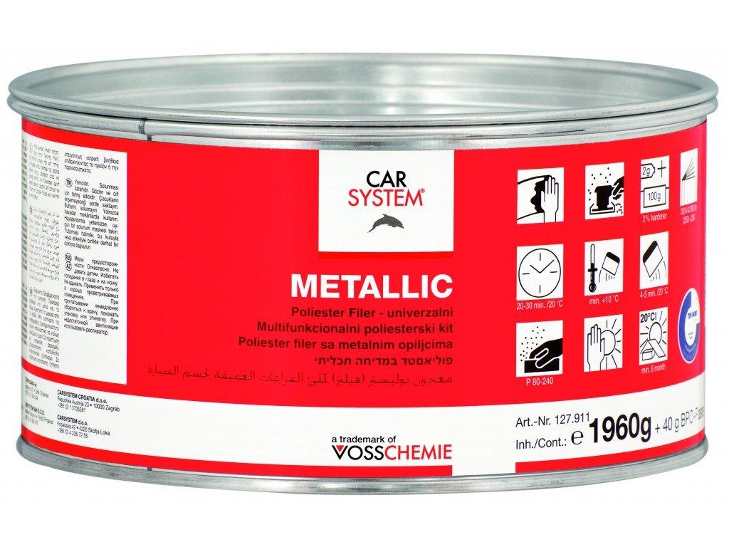CS Metallic polyest.plnící tmel vč.tužidla, 2kg