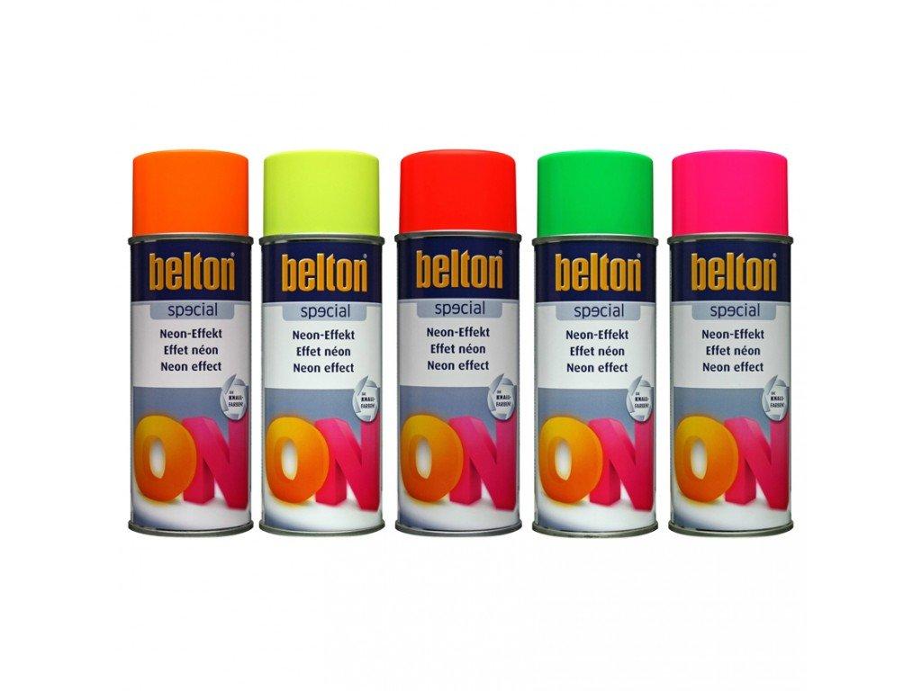BELTON Neonový efekt červená 400ml