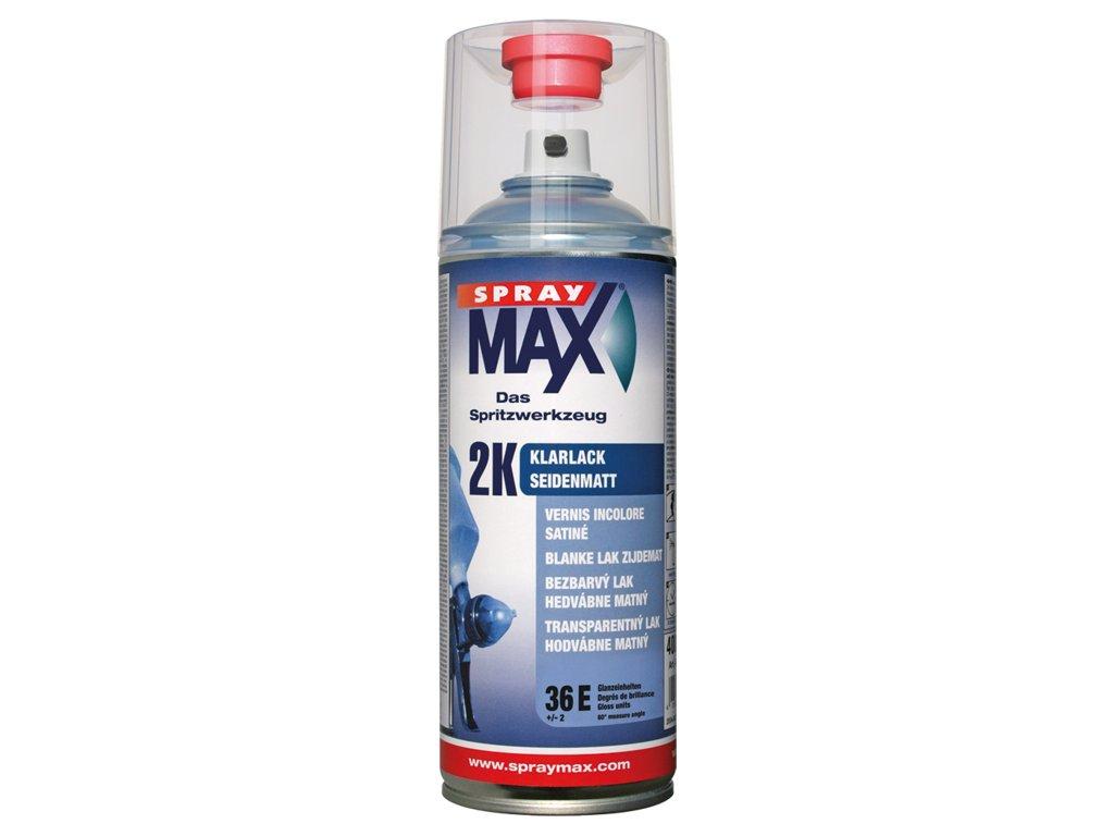 SprayMax 2K čirý lak polomatný 400ml