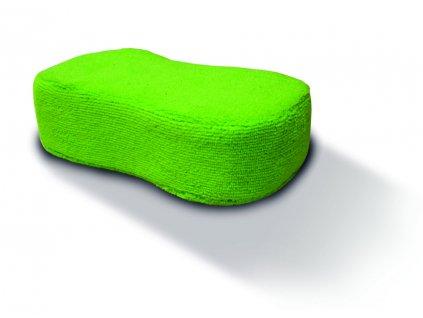 Mycí houba zelená s potahem z mikrovlákna