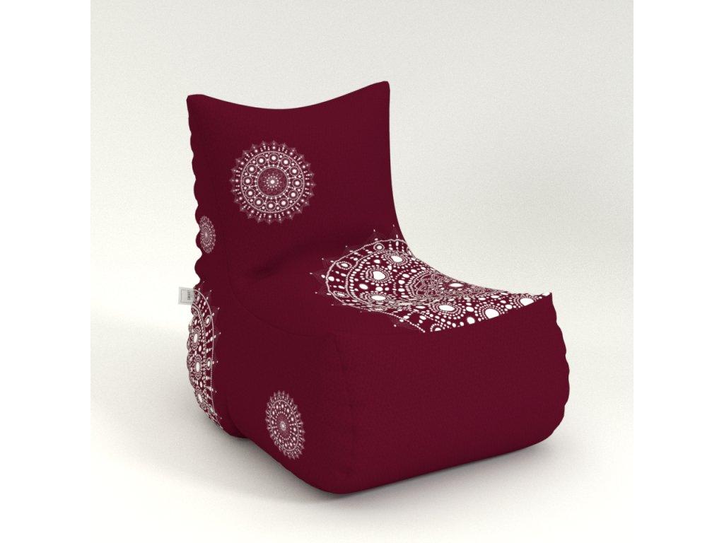 mandala armchair red