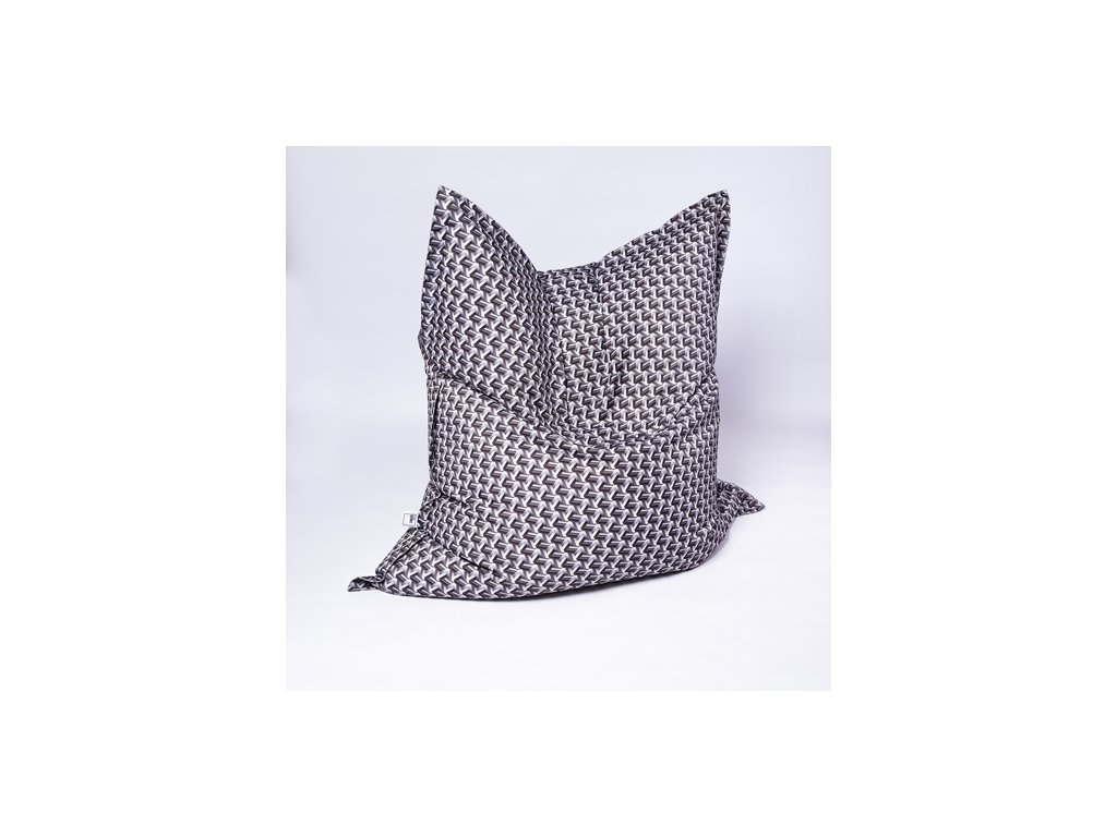 Sedací vak Pillow XXL Černo-bílý