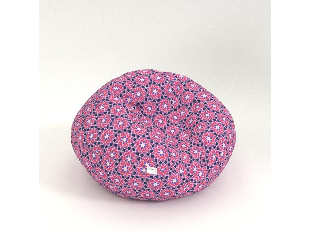 nest graphic flower purple