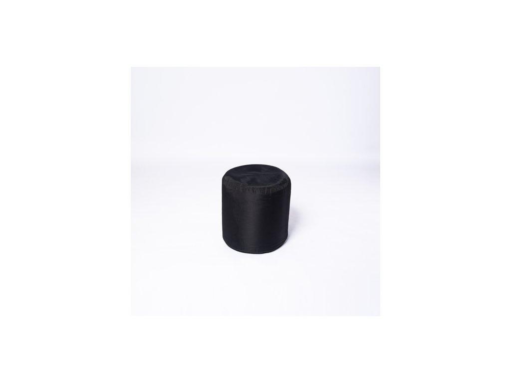 Taburet kulatý černý - pevný šusťák