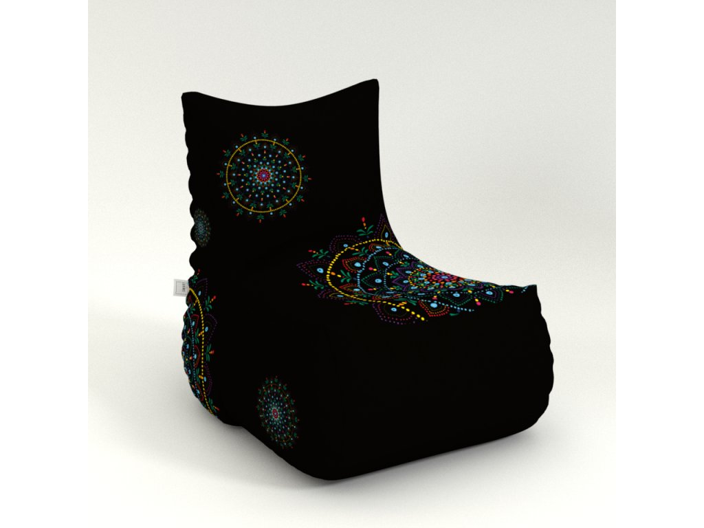 mandala armchair black color